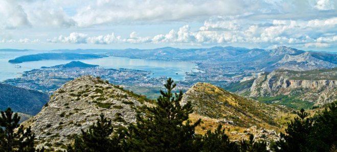 Kaštelanski zaljev - pogled s Mosora Foto - Hrvoje Svalina