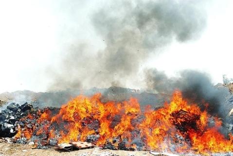 spaljivanje ilegalno odloženog otpada